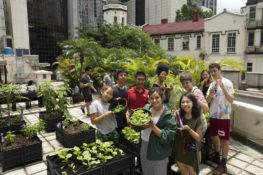 Participants at Rooftop Garden